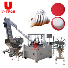 High Speed Automatic Linear One Step Cap Gasket Cutting Wedding Lining Machine